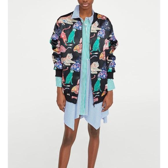 db4798f76502 Zara Jackets & Coats | Oversized Tiger Print Bomber Jacket | Poshmark
